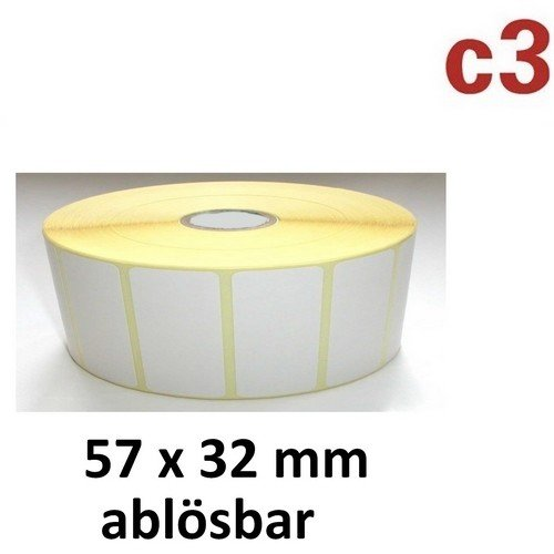 57x 32mm térmica etiquetas ablös Bar rollo 2100etiquetas
