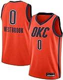 CDS Jerseys for Hombres - Oklahoma City Thunder 0 Russell Westbrook Fan de Baloncesto Uniforme Respirable Fresco Chaleco de la Tela de la Camiseta Jersey (Color : B, Size : XL:180~185cm/85~95kg)