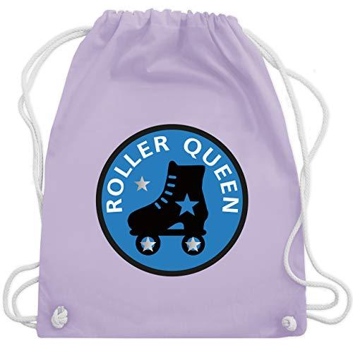 Shirtracer Vintage - Roller Queen Rollschuh - Unisize - Pastell Lila - rollschuh tasche - WM110 - Turnbeutel und Stoffbeutel aus Baumwolle