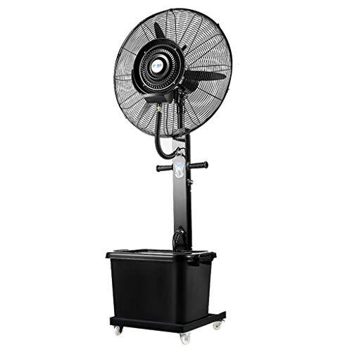NSYNSY Ventiladores Ventilador de Pedestal Rociador de nebulización de enfriamiento oscilante silencioso Grande para la Industria al Aire Libre Humidificador Comercial 3 velocidades / 40L Tanque de