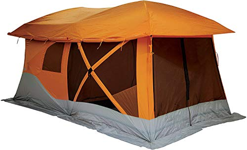 ZXL Pop Up Portable Camping Hub Tent, 4-8 Person Automatic Canopy Shade Portable Uv Protection for Outdoor, Instant Kids Shade Tent, Family Cabana for Beach, Garden, Camping