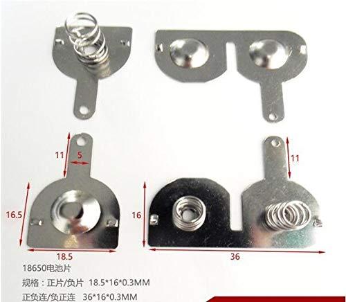 NO LOGO ZZB-LSTH, 200pcs 18650 Federkupplungen Positive und Negative Allgemein Fan Toy Kontakt AA (50Pairs) (Size : 18.5 * 16.5 * 0.3MM)