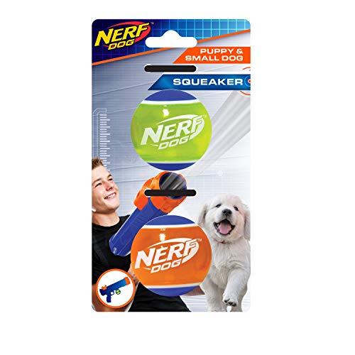 Nerf Dog Nerf Dog TPR - Juego de 2 Pelotas de Tenis para Perros pequeños y Cachorros, adecuadas para el Nerf Dog Tennis Ball Blaster para Perros pequeños y Cachorros