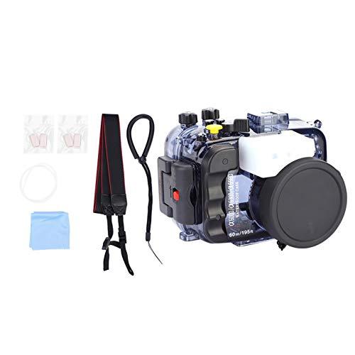 Akozon Wasserdichter Gehäusekoffer Kompatibel mit der A6000 / A6300 / A6500 Kamera 60M / 195FT Unterwasserschutz-Tauchkofferschale mit Objektivschutzabdeckung