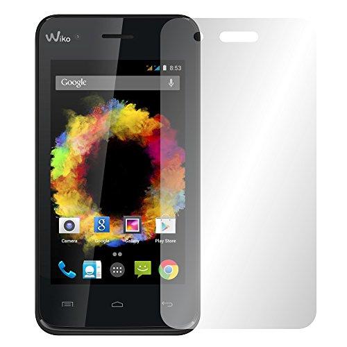 Slabo 2 x Bildschirmfolie für Wiko Sunset Bildschirmschutzfolie Zubehör Crystal Clear KLAR