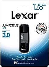 Lexar JumpDrive S75 USB 3.0 Flash Drive, 128GB, Gray, LJDS75-128ABNLN