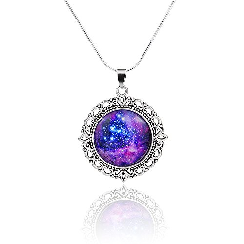 CAETLE Milky Way Galaxy Love Pendant Necklace for Mother Women lady Girl