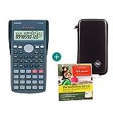 Casio FX-82MS + Funda protectora SafeCase + CD de aprendizaje CALCUSO (en alemán)