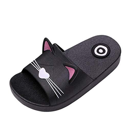 Riou Zapatos Chicos Chicas Niñas Niños Verano Playa Sandalias Zapatos Zapatillas de Dibujos Animados Cat Floor Familia Sandalias de Playa