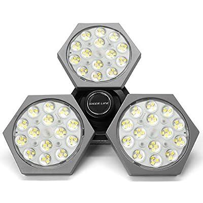 LED Garage Lights 50W 6000LM Deformable LED Gar...