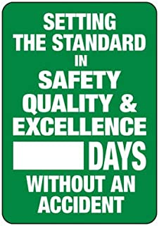 Emedco Safety Tracker Sign – Vinyl, Self-Adhesive, Dry Erase Board | Setting The Standard in Safety, Quality & Excellen