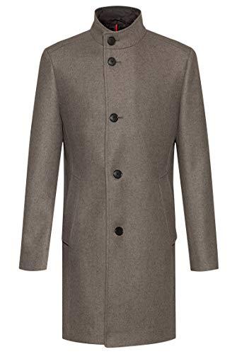 HUGO Mens Mintrax2041 Dress Coat, Light/Pastel Brown (238), 48