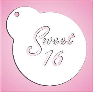 Sweet 16 Stencil Cookie Cutter