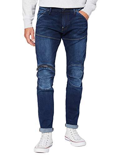 G-STAR RAW 5620 3D Zip Knee Skinny Jeans, Worn in Dusk Blue C296-B843, 31 W/32 L Uomo