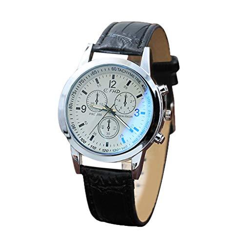 EVANA Relojes Hombre Acero Inoxidable Reloj de Pulsera marcar Moda Impermeable Clásicos Diseño Analogicos Cuero Reloj de Cuarzo para Hombre Unisexo Negocio Casual