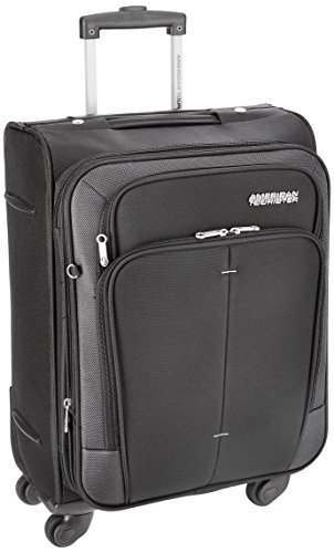 American Tourister Crete Polyester 55 cm Black Softsided Carry On (49W (0) 09 001)