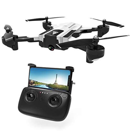 Liaobeiotry juguetes para dron SG900 RC con cámara 4K FPV WiFi flujo óptico RC Quadcopter helicóptero retorno automático Video Aircraft blanco