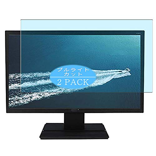 Vaxson 2-Pack Anti Blue Light Screen Protector Compatible with AcerV246HLbmd / V246HL bmd 24' Display Monitor, Blue Light Blocking Film Protector [NOT Tempered Glass]