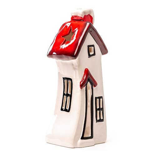 Seyko Windlicht Haus, Laterne, hohes Lichthaus, Teelichthalter, Weihnachten, Deko Haus H 25,5cm