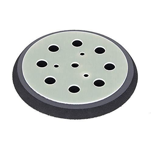 Schleifteller Ø 125mm hart - für KRESS Hexe - Stützteller für Klett Schleifscheiben mit 8-Loch Absaugung - DFS