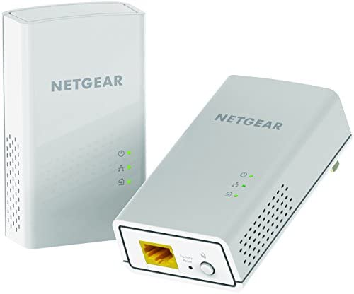 NETGEAR Powerline adapter 2000 Mbps (2) Gigabit Ethernet Ports with Passthrough + Extra Outlet (PLP2000), Model Number: PLP2000-100PAS