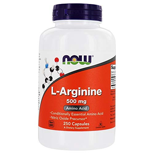 NOW Foods L-Arginine 500mg, 250 Capsules by Now Foods