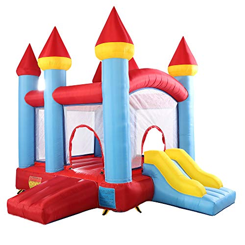 TOBBI Patented Inflatable Castle with Double Doors, Bounce House, Activity Center for Children,...