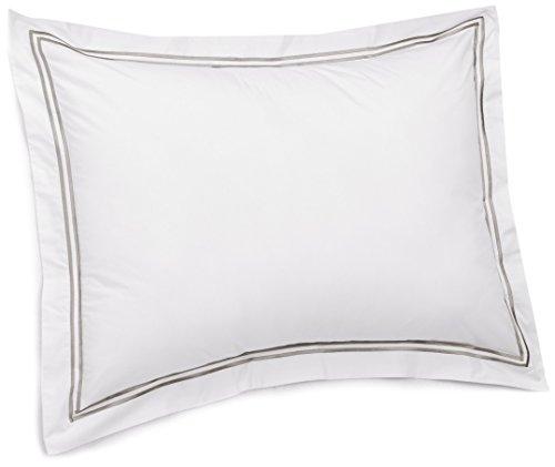 Pinzon 400-Thread-Count Egyptian Cotton Sateen Hotel Stitch Sham - Standard, Silver Grey