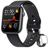 WWDOLL Smartwatch, 1.3 Pulgadas Reloj Inteligente Hombre, Reloj Deportivo con Pulsómetro, Cronómetro, Presión Arterial, Juego, Calculadora, Monitor de Sueño, IP67 Smart Watch para Android iOS