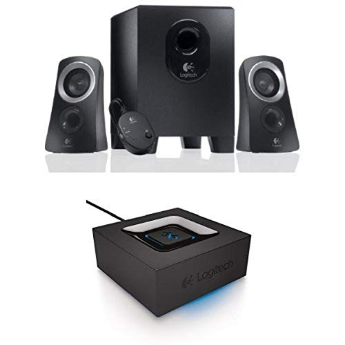 Logitech Z313 Speaker System + Logitech Bluetooth Audio Adapter Bundle