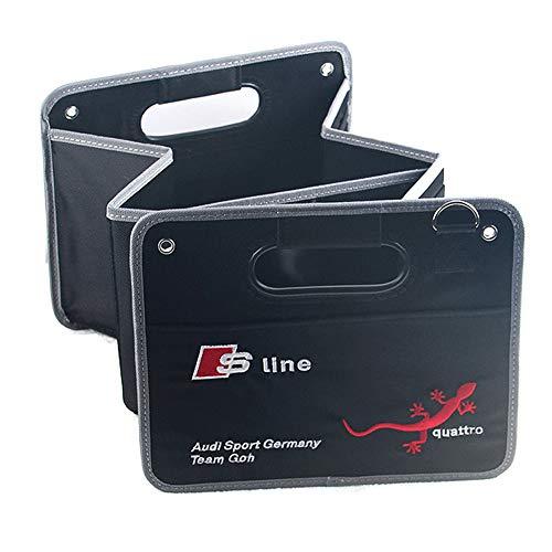 L&U Auto Trunk Organizer Cargo Organizer, Impermeabile Fondo Antiscivolo Non, Pieghevole Coperchio del Contenitore per Audi A1 A3 A4 A6 A8 A7 TT Q3 Q5 Q7 RS3 RS5 RS7