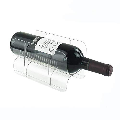 LNDDP Soporte de Botella de Vino Vertical apilable de pie - Organizador de Almacenamiento para encimeras de Cocina, despensa, refrigerador - Estante con Capacidad para 1...