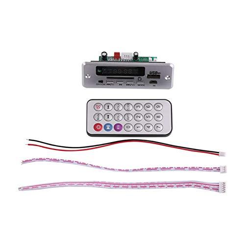 DC12V Placa decodificadora MP3 Módulo de Audio Pantalla LED Digital USB SD Audio Radio FM con Control Remoto y Cables