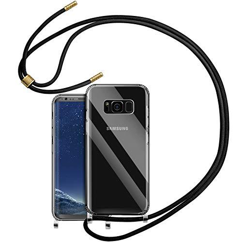 YIRSUR Handykette Handyhülle für Samsung Galaxy S8 Hülle mit Kordel zum Umhängen Necklace Hülle mit Band Schutzhülle Transparent Silikon Acryl Hülle für Samsung Galaxy S8 (Clear)