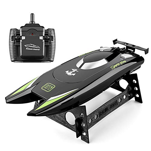 LALEO 2.4G Upgraded Version Remote Control Boat High-Speed Speed Boat Yacht Children's Competition Boat Water Toy Rc Boats Toy Boat,Black