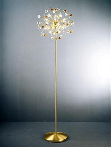 Kolarz vloerlamp Twister Rosy 24 karaat goud handwerk, Made in Italy