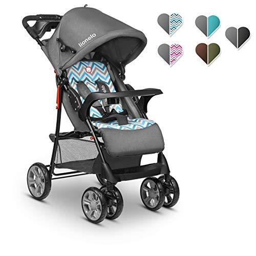 Lionelo Emma Plus Kinderwagen Kindersportwagen leicht modern klein Buggy mit Liegeposition zusammenklappbar (Blue Scandi)