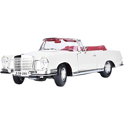 Modelo de Coche Antiguo Benz 280SE, 1:18 simulación Miniatura aleación Modelo de Coche clásico Juguete colección de Regalos decoración