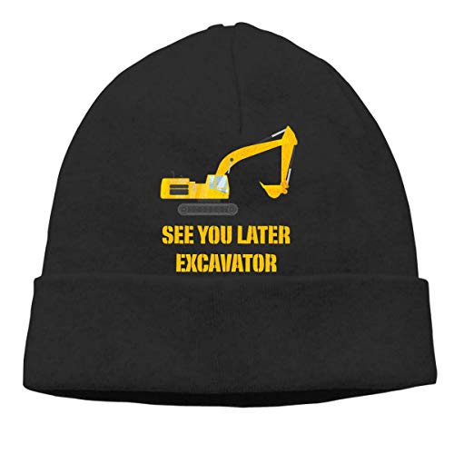 Lsjuee Bis später Bagger Funny 3 Unisex Knit Beanie Hat