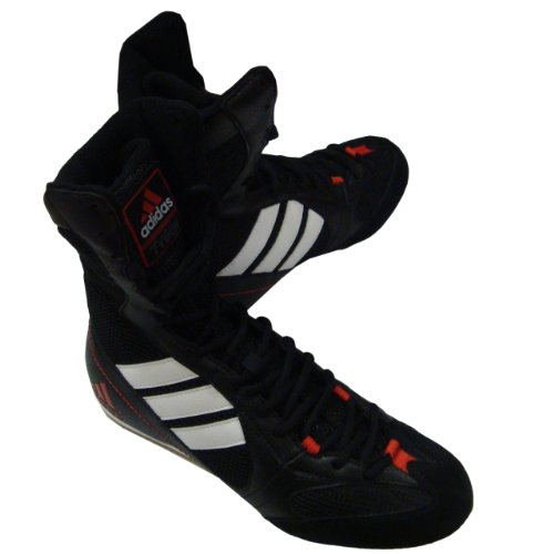 adidas Herren Sportschuhe Wildleder Farbe Schwarz Boxing Modell, Schwarz - Schwarz  - Größe: 39 1/3 EU