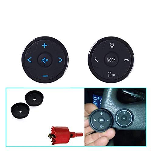 LIULIANG MeiKeL Controlador de Volante Universal Ajuste para 2 DIN Android Coche DVD GPS Navegación Volante Radio Radio Control Remoto Botón Negro
