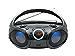 SINGING WOOD, CD Player Boombox, CD/CD-R/CD-RW, Portable w/Bluetooth, USB, AM/FM Radio, Aux Line-Input, Headset Jack, Foldable Carrying Handle and LED Light (Phantom Black) (Renewed)