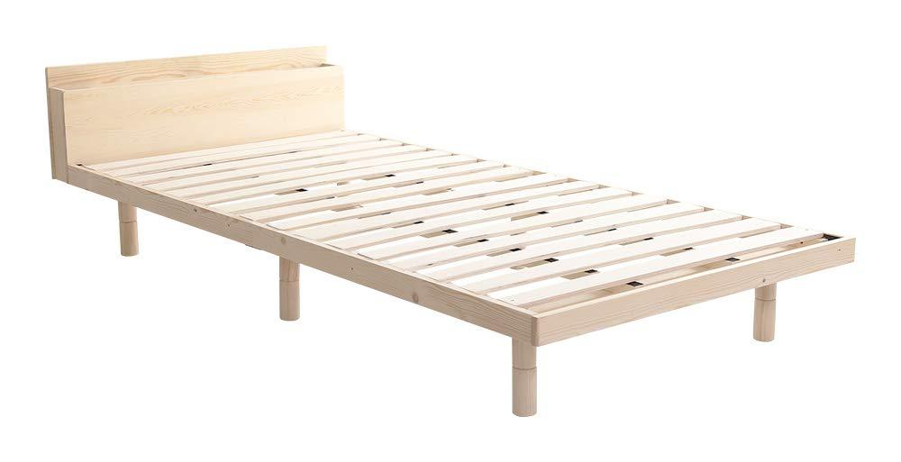 ホームテイスト 【宮セット】パイン材高さ3段階調整脚付きすのこベッド(シングル)