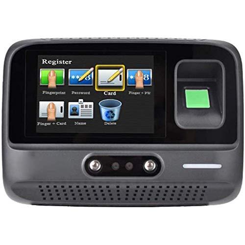 JSYCD Intelligent Biometric Maschine, Fingerabdruck-Passwort Recognition Zeiterfassungssystem, Elektronische Lochkartenmaschine, Schwarz