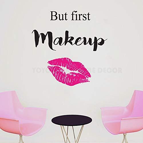 3d muurstickers baksteen kong, kunstenaar woondecoratie muurstickers alles wat je nodig hebt is koffie en lippenstift vrouwen schoonheidssalon decoratio85x82cm