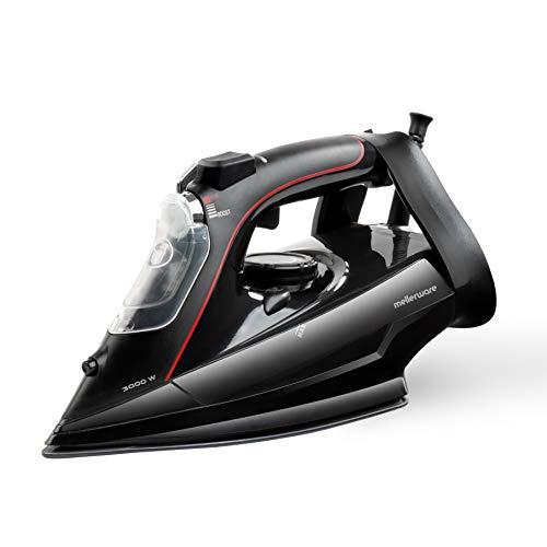 Mellerware ProSteam 3000 Plancha de Vapor, máxima Potencia, Calentamiento rápido, Suela de cerámica, función autolimpieza