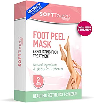 2-Pack Soft Touch Natural Foot Care Exfoliating Treatment Peel Mask