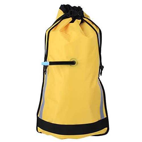 Labuduo Leuchtend gelber Kajak-Paddel-Schwimmer, Auto-Ventil-Nylon-Paddel-Schwimmer für Kajak-Kanu