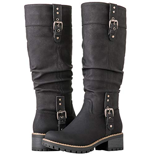 GLOBALWIN Women's 19YY15 Black Fashion Boots 7M