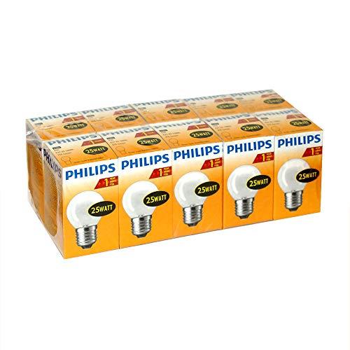 10 x Philips 25W E27 230V Warm-Weiß Tropfenform Dimmbar Energieeffizienz E